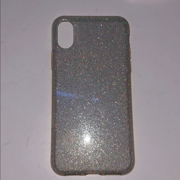 Sparkly clear iPhone X case